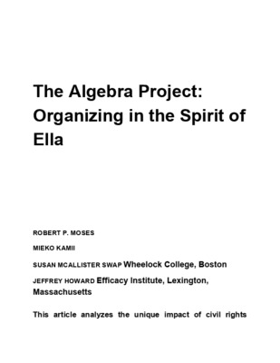The Algebra Project Organizing in the Spirit of Ella Baker.pdf